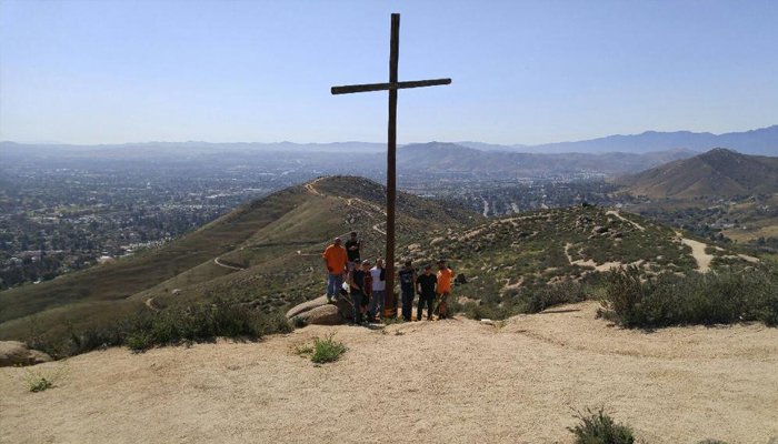 newly erected cross