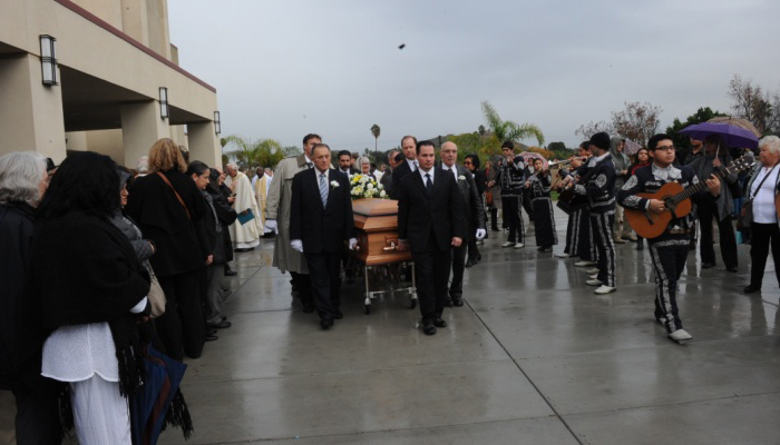 Mike's funeral one